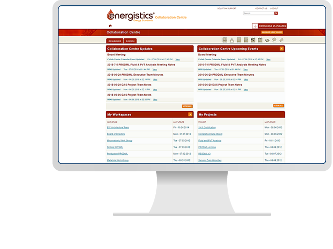 Energistics - Web Development, CMS, & Custom Intranet Solution for Oil & Gas Industry