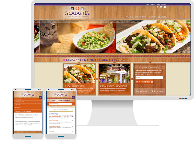 Escalante's Fine Tex-Mex - Website Design, Web Development, CMS, & Ecommerce Online Delivery Solution