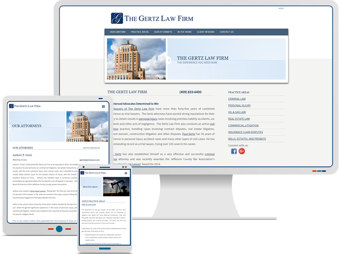 Gertz Law Firm - Responsive Website Design & Web Development for Law Firm CMS Website