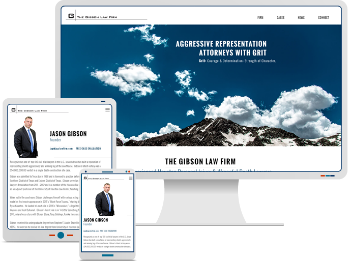 Gibson Law Firm - Responsive Web Design & Web Development for Law Firm CMS Website