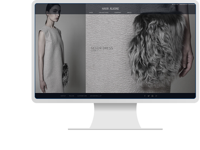 Haus Alkire - Website Design & Big Commerce Development for Fashion Website