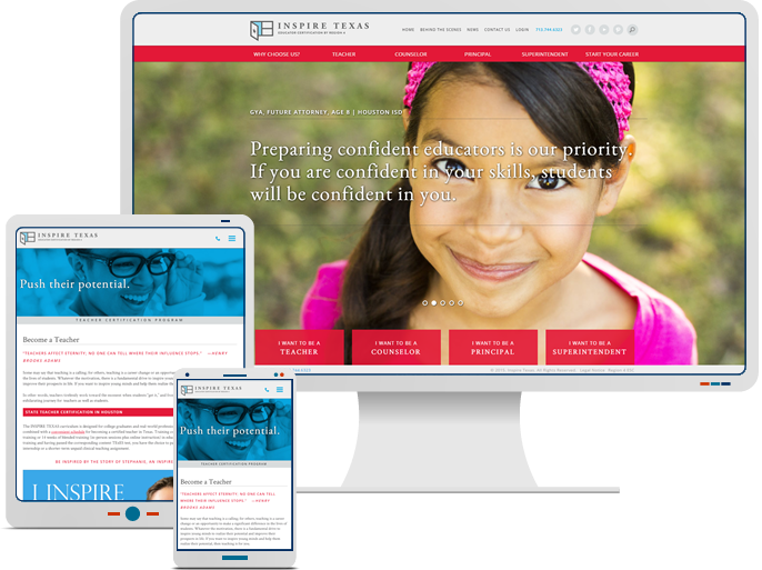 InspireTexas - Responsive Web Design & Web Development for Educational CMS Website