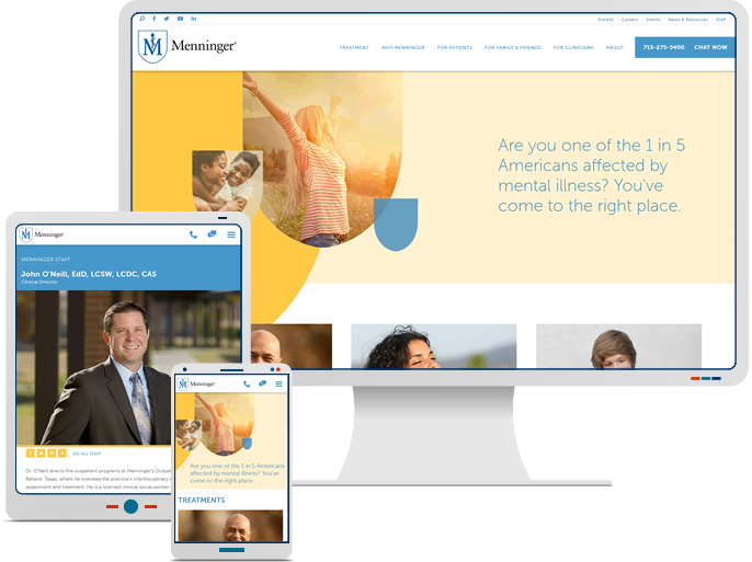 Menninger Clinic - Responsive Website Re-Design & Web Development for Healthcare CMS Website