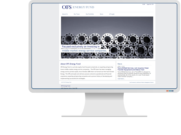 OFS Energy Fund - Website Design & Web Development for CMS Website
