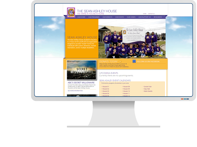 Sean Ashley House - Website Design & Web Development for Non-Profit CMS Website