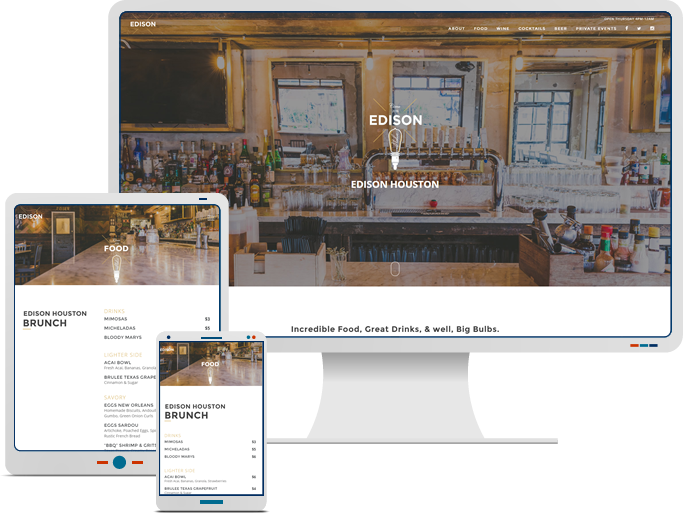 Edison & Patton - Responsive Web Development for Restaurant CMS Website
